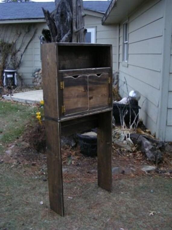 primitive wood over toilet cabinet shelf. Black Bedroom Furniture Sets. Home Design Ideas
