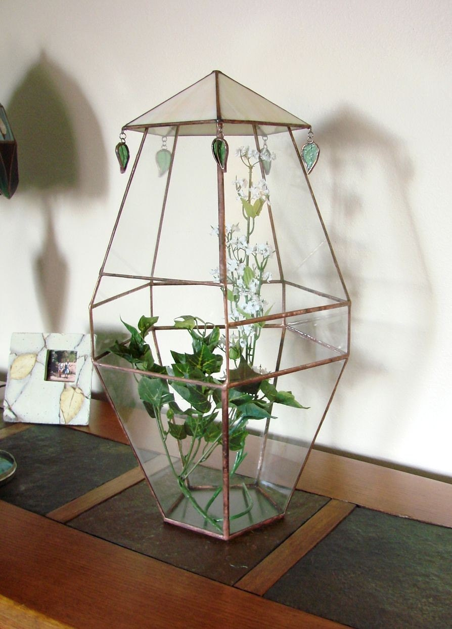 how to make a stained glass terrarium