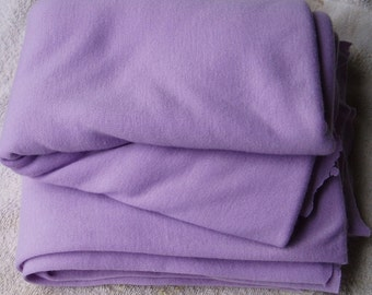 Lavender Knit Tube 2- 15 Yd Jersey Fabric Baby Rib Wide Fabric Spring Pastel Ultra Soft Vintage Yardage Cami Tee Shirt Blanket Sewing