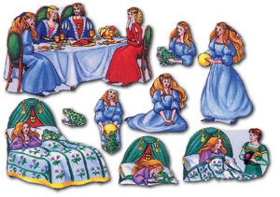 Frog Prince Fairy Tale Flannel Board Storytelling Set for Teachers, Homeschoolers, Educators Felt Pretend Play Wedding Party Game