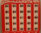 Vintage Board Games for long car trips by Regal Games - 3 different kinds, four cards total - bingo style