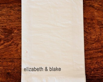 Personalized Paper Guest Towels: Mod Names