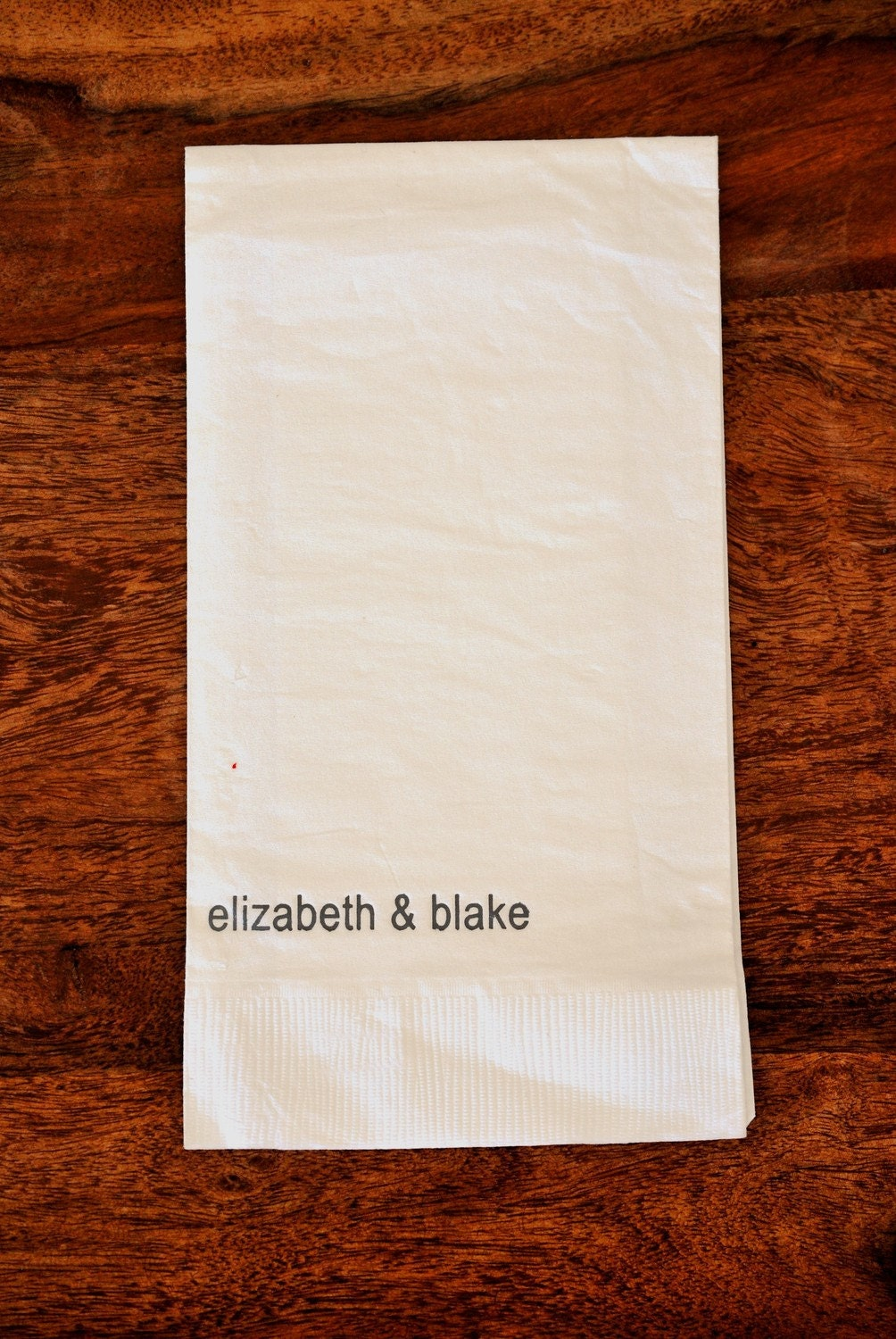 Personalized Paper Guest Towels Mod Names