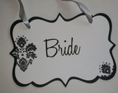 Custom Wedding Signs-Reserved Sign-Chair Signs-choose ribbon color and more-Set of Two Signs