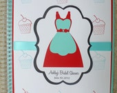 Bridal Shower Journal and Guest Book - Shower Keepsake - Retro Housewife