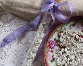 Vintage Mixed Media Supplies Tiny Porcelain Roses And Rose Quartz Pebbles For Mixed Media Assemblage