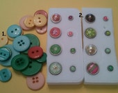 Scrapbook embellishments - Brads and Buttons