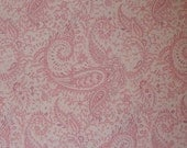 Private Listing for margie3359 Kaufman Fabric Pale Pink Paisley Quilting Cotton 1 1/4 Yard