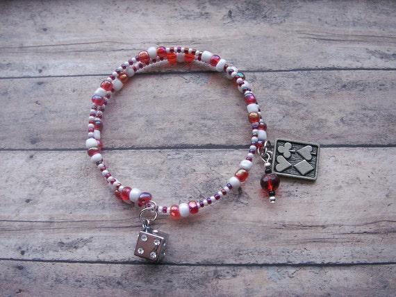 SALE 64% OFF gambler's good luck charm bracelet