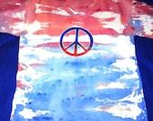 Peace RWB Large V-neck Tshirt