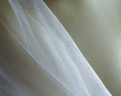 """WHITE Silk Tulle 1/4 yard from England 72"""" wide for Embroidery"""