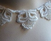 Lace Applique Set of 3 in Ivory Cream for Altered Art, Jewelry Design, Crazy Quilts, Scrapbooking, Millinery