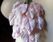 Velvet Leaves in Pink for Bridal, Headbands, Millinery, Costume Design, Scrapbooking ML 45