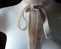 2 YARDS Velvet Ribbon in Nude Blush for Jewelry or Costume Design,Millinery, Couture, Floral Supply VL 150