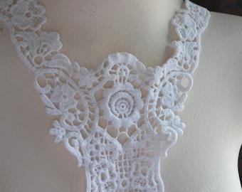 White Cotton Lace Applique for Lyrical Dance, Garments,  Costume Design WA 620