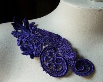 Lace Applique in Purple Venice Lace for Lyrical Dance, Jewelry or  Costume Design, CA 109