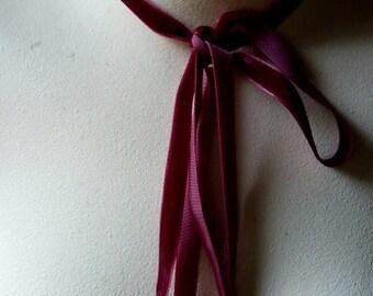 3 yds. Burgundy Velvet Ribbon for Everything VL 58