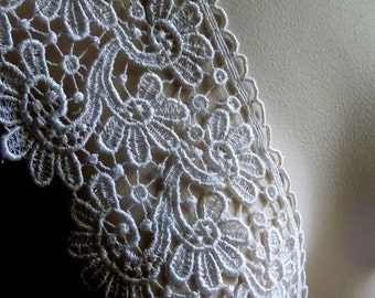 SALE Ivory Lace for Bridal Accessories, Applique, Jewelry or Costume Design BRI 21