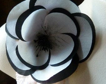 Black and Pink Silk Millinery Flower for Fascinators, Corsages, Bouquets MF 109