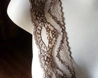 5 yds. Brown Lace SALE in Coffee Bean for Garments, Costumes, Crafts L 3039