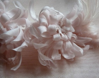 Pink Silk Chrysanthemum Millinery Flower for Bridal, Corsages, Costume Design MF 106