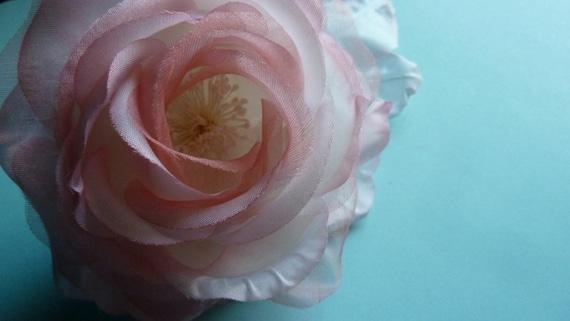 Silk Flower Vintage Millinery Rose in Shrimp Pink for Sashes, Corsages, Fascinators, Pins