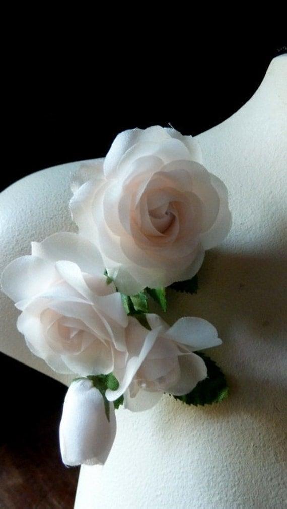silk flowers blush