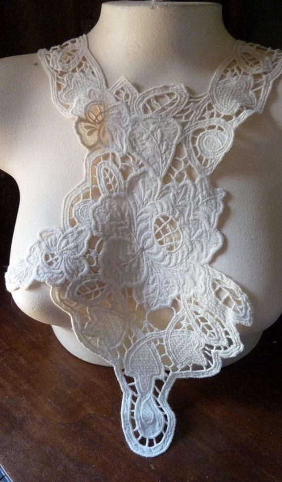 Lace Applique UNIQUE in Cotton for Altered Couture, Costume Design
