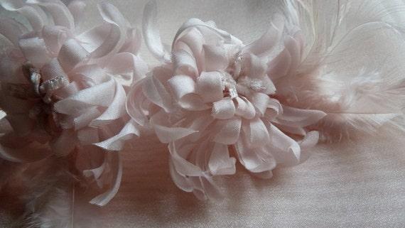 Pink Silk Chrysanthemum Millinery Flower for Bridal, Corsages, Costume Design MF 106
