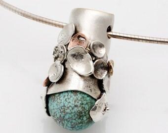 Turquoise pebble series pendant