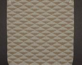 Gray and Mushroom Brown Handwoven Wool Rug or Wall Hanging