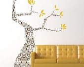 Modern Damask  Large Tree Vinyl Wall Decal, Large Tree Graphic, Sticker, Vinyl Wall Graphic, Vinyl Wall Decal, item 30032
