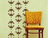 Vintage Floral Damask Vinyl Wall Decal, Wall Pattern Vinyl - 18 Graphics-  Vinyl Wall Graphics, Wallpaper, Sticker, item 10033