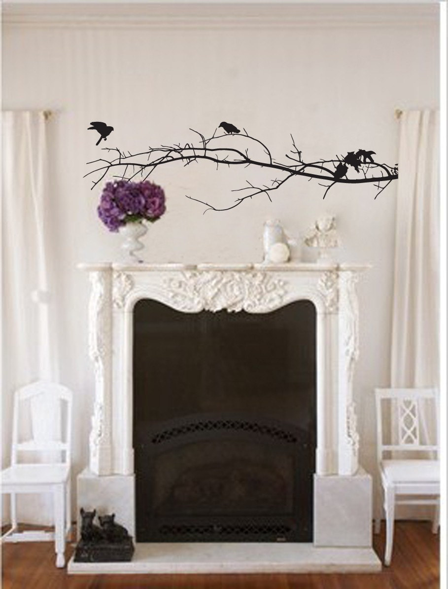 Vinyl Wall Decal Large Branch Silhouette Vinyl Graphic