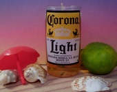 Scented Beer Faux Drink Candle in Corona Glass