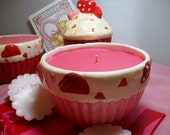 Rose Scented Container Candle - Pink Bowl