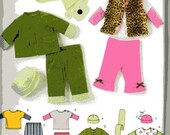 Simplicity 3582 Simply Baby Pants, Jacket, Vest, Knit Top, Hat and Scarf size XXS to L, destash, cut