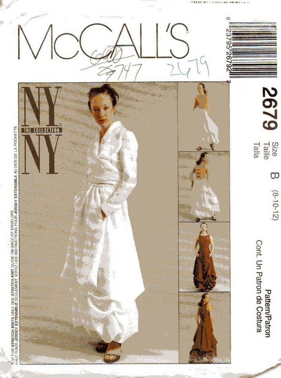 McCalls 2679 Womens Dress, Blouse, Top and Skirt Pattern by NYNY