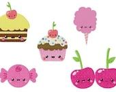 Kawaii Sweets Machine Embroidery Designs Set of 5