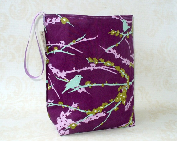 Purple Aviary Reusable Trashbag - Waterproof, Ecofriendly, Handmade