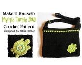 Myrtle Turtle Bag PDF Crochet PATTERN
