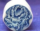 Blue Porcelain Flower - Millefiori Polymer Clay cane