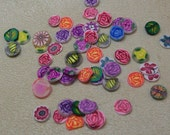 Flower slices - nail art- polymer clay cane slices
