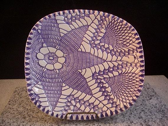Ceramics, Art Pottery, Home Decor,  Soap Dish, Candy Bowl, Jewelry Tray, Spoonrest, Lavender, Purple