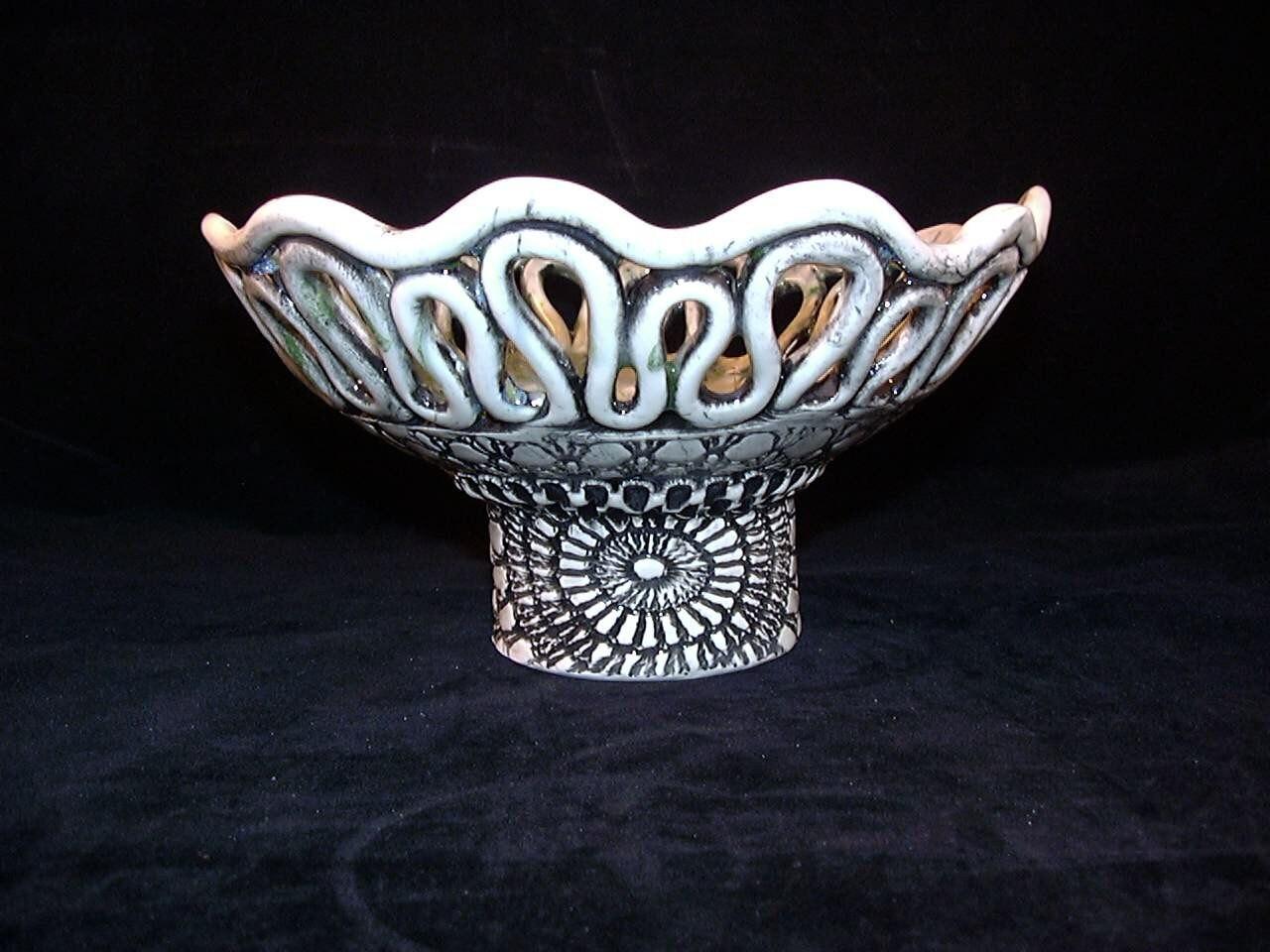 Ceramics Art Pottery Coil Pot Candleholder Candy or Soap