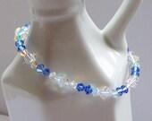 ON SALE - Sapphire Swarovski Crystal Bracelet