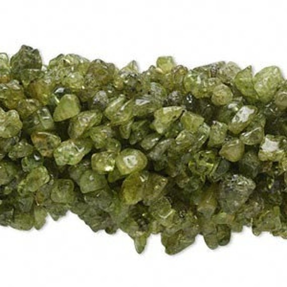 Peridot Mini Chip Beads 3x5mm 35 inch strand