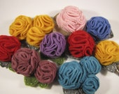 Triple Rosette Brooch/Hair Clip - Your choice