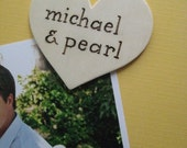 Personalized Wood Magnet -- Heart shaped or Oval-- Custom