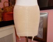 Vintage Unworn 1930s 40s Pin up Girl  Vixen Girdle with Garters by NEMO SENSATION Body Con Burlesque Diva Size M